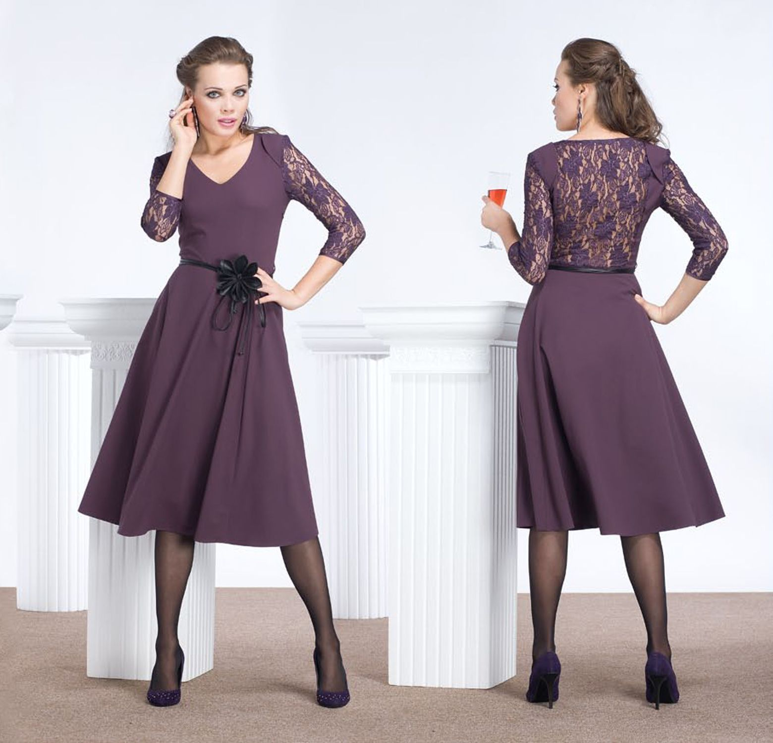 вечернее платье, которое отличается лаконичностью. Стиль минимализм как всегда марширует в строе среди самых продвинутых хитов. Декорированное гипюром и